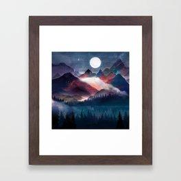 Mountain Lake Under the Stars Framed Art Print