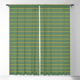 Thin lines yellow back ground soft green Blackout Curtain