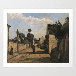 Camille Pissarro - Rue L´Hermitage (2) Art Print