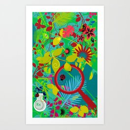 finding cures in the rain forest Art Print