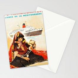 Plakat cie gle transatlantique lignes de Stationery Cards