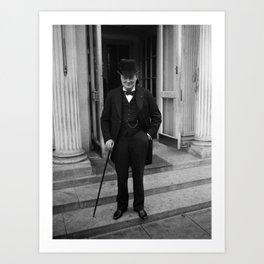 Winston Churchill At White House - 1929 Art Print
