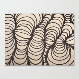 Black and White Spirals Canvas Print