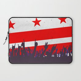 Washington DC Flag with Audience Laptop Sleeve