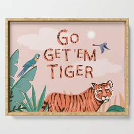 Go Get 'Em Tiger Serving Tray