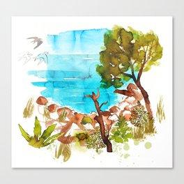 Rocky Cost in Croatia Canvas Print