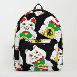 Funny Wise Lucky Rich Cats Backpack