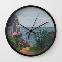 Sea Side Cottage Wall Clock
