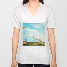 they made great leaps to follow in the flight of birds Unisex V-Neck