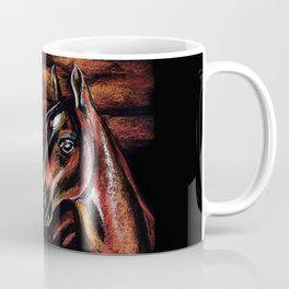 Red horse_Pastel drowing Coffee Mug