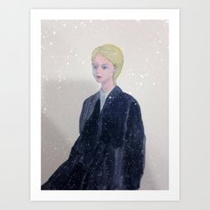 it's snowing in my mind. Art Print