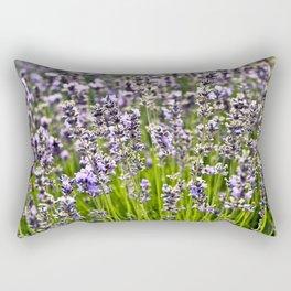 French Blue Lavender Rectangular Pillow