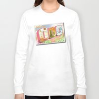 lemongrab Long Sleeve T-shirts featuring Greetings from Ooo / Adventure Postcard by jerseytigermoth