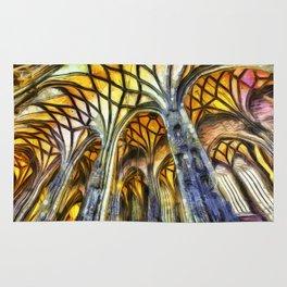 Vienna Cathedral Vincent Van Gogh Rug