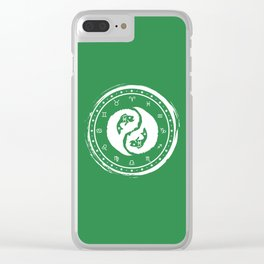Pisces Yin Yang Fish Twelfth Zodiac Sign Clear iPhone Case