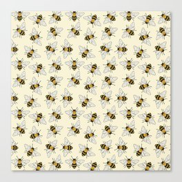 Busy Bees Pattern Canvas Print