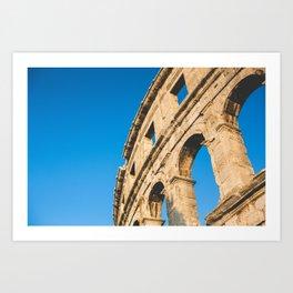 Part of Pula Roman Arena, Croatia Art Print