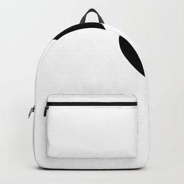 White Black Heart Love. Backpack