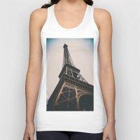 eiffel tower Tank Tops featuring Eiffel Tower by Christine Workman