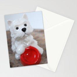 Westie figurine Stationery Cards