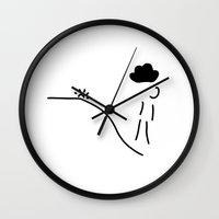 depression Wall Clocks featuring depression grief illness by Lineamentum
