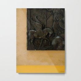 Mustard Exhibit Metal Print