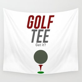 Golf Tee Pun Golfing Game Swing Ball Wall Tapestry