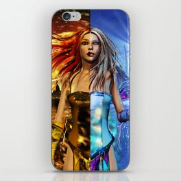 Fire and Ice Fantasy Art iPhone Skin