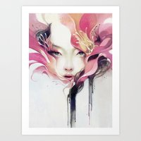 flower Art Prints featuring Bauhinia by Anna Dittmann