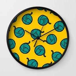 Wool & Yarn Pattern Wall Clock