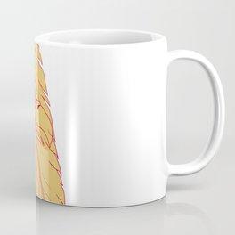 Sea Eagle Head Inside Feather Drawing Coffee Mug