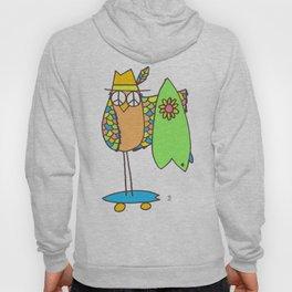 Keep Shredding Surf Skate Peace Owl Hoody