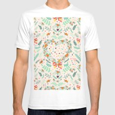 Nature pattern White Mens Fitted Tee MEDIUM