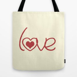 Red Love  Tote Bag