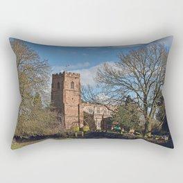 St Botolph's Church Newbold-on-Avon Rectangular Pillow