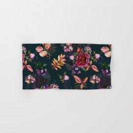 Autumn dark roses and florals Hand & Bath Towel