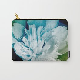 Blue Peony Flower Art Carry-All Pouch