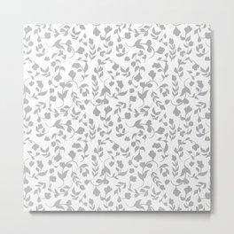 Elegant Wedding Floral Ivy Pattern Metal Print
