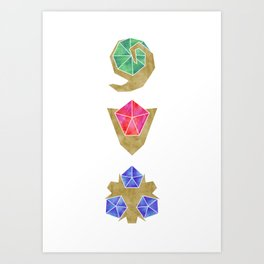 Spiritual Stones the Legend of Zelda Art Print