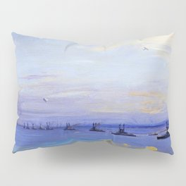 The American Battle Squadron in the Firth of Forth - Digital Remastered Edition Pillow Sham