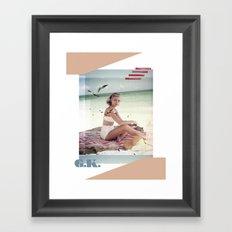 G.K. Collage Framed Art Print