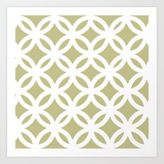 White Circles Pattern Art Print