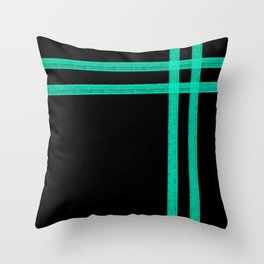 Mint Strip Throw Pillow