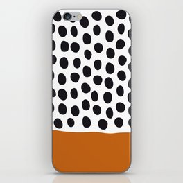 Classy Handpainted Polka Dots with Autumn Maple iPhone Skin