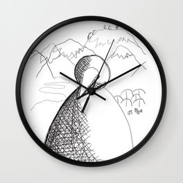 Metaphysical Penguin of Kilimanjaro 1 Wall Clock