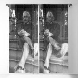 Albert Einstein In Fuzzy Slippers Blackout Curtain