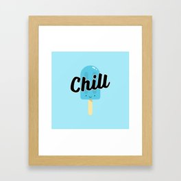 Chill Ice Pop (Blue) Framed Art Print
