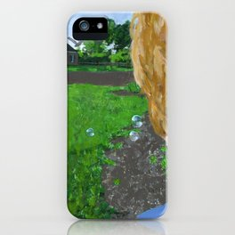 bubbles in the backyard iPhone Case