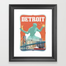 Spirit of Detroit Framed Art Print