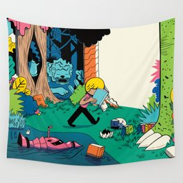 Getting into a Good Book Wall Tapestry